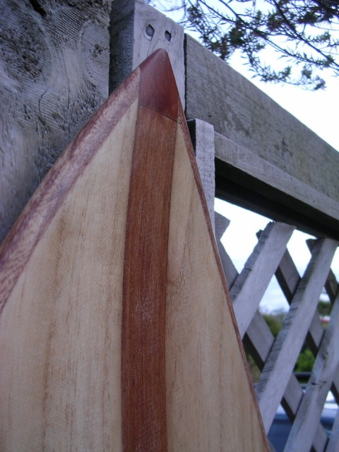 Paulownia with Pacific Rimu nose block